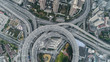 aerial view of Nanpu Bridge in Shanghai
