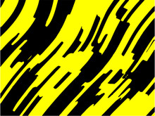 Black And Yellow Wavy Background. Abstract Vector Pattern