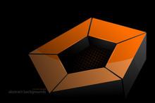 Glossy Gold Pentagonal Shape S...