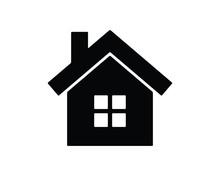 House Glyph Icon , Designed Fo...