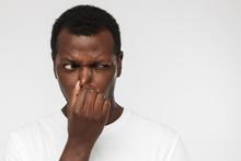 African American Man In Blank ...
