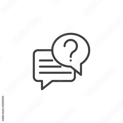 Fotografiet Conversation chat outline icon