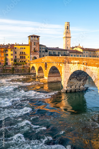 Poster Artistique Verona and its beautiful architetuures