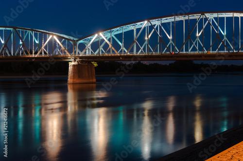 Poster Bridges Toruń Nocą - Most Na Wiśle - Polska