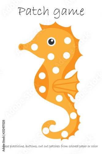 photograph about Printable Patches identified as Schooling Patch recreation sea horse for small children towards produce engine