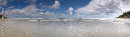Obraz Panorama Bałtyk Plaża Stegna - fototapety do salonu