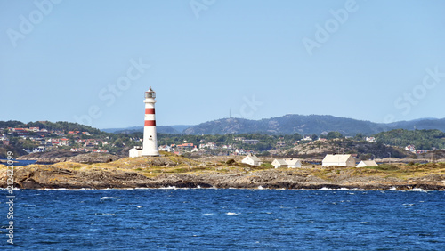 Foto op Aluminium Vuurtoren Lighthouse Oksøy fyr south of Kristiansand in Norway