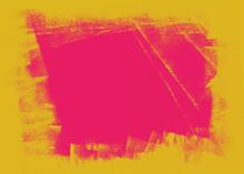 Yellow And Pink Grunge Brush Texture Background
