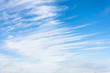 canvas print picture - High cirrus clouds with blue sky background.