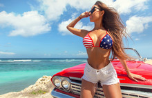Sexy Woman In American Patriot...