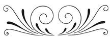 Vintage Calligraphic Decoration Element #isolated #vector - Dekoration Element Verzierung