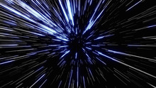 Particle Or Space Traveling. Particle Zoom Background