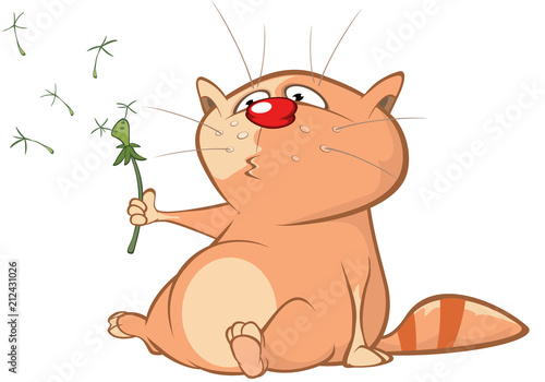 In de dag Babykamer Illustration of a Cute Cat. Cartoon Character