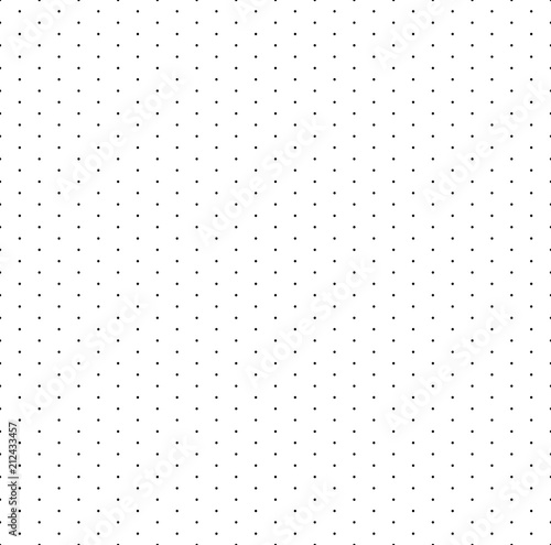 Grid With Dots Paper Seamless Pattern Isometric Floor Plan For