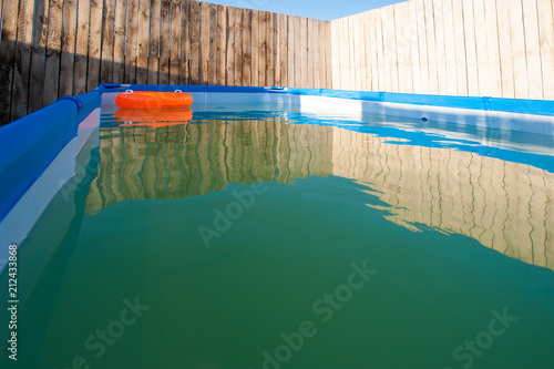 Modular frame pool for swimming collapsible blue. Orange ...