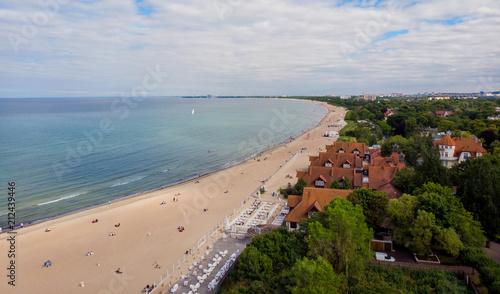 Obraz Plaża Sopot Gdańsk Bałtyk - fototapety do salonu