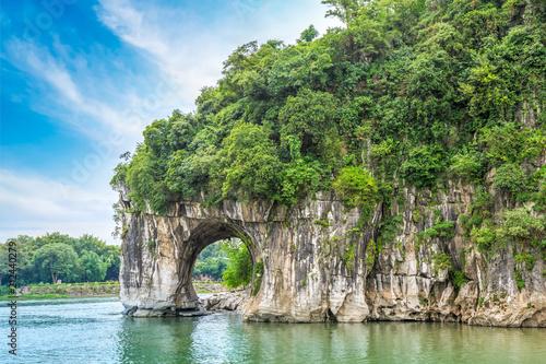 Foto auf AluDibond Olivgrun The beautiful landscape of Guilin