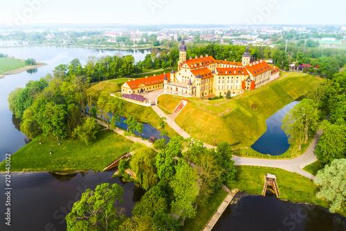 Garden Poster Old building Medieval castle in Nesvizh, Minsk Region, Republic of Belarus.