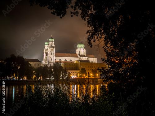 Staande foto Europa Passauer Dom in der Nacht