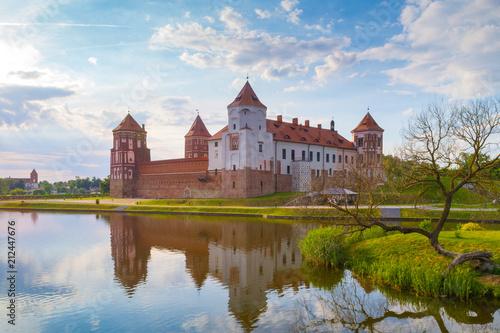 Grand view to Castle of Mir, Minsk Region, Belarus. Poster