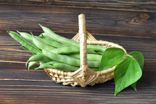 Green Beans In Woven Basket
