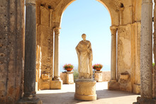 Beautiful Statue In The Villa Cimbrone, Ravello, Amalfi Coast, Campania, Italy