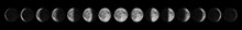 Phases Of The Moon. Moon Lunar...