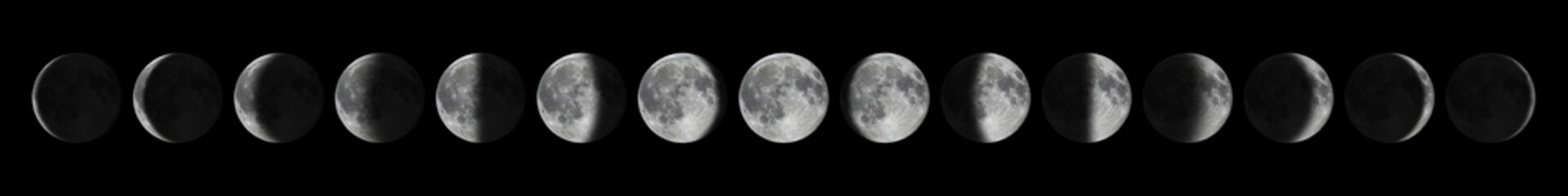 Fototapeta Phases of the Moon. Moon lunar cycle.