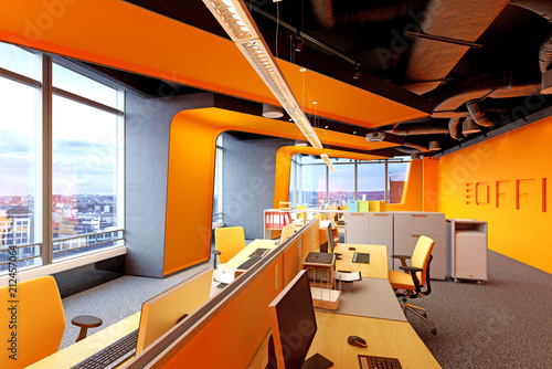 Obraz modern  office interior. - fototapety do salonu