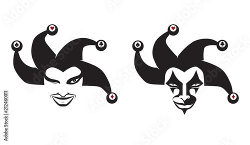 Set of jokers head Wallpaper Mural
