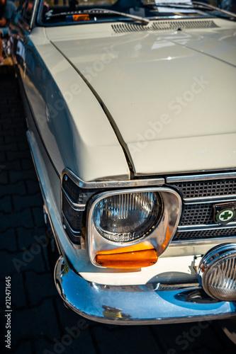 Keuken foto achterwand Vintage cars Oldtimer Scheinwerfer