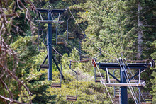 Abandoned Ski Lifts Of Angeles Crest Highway Outside Of Los Angeles