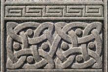Old Stone Carved Celtic Design...
