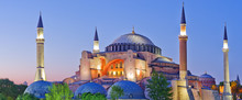 Hagia Sophia During Sunset. Istanbul, Turkey