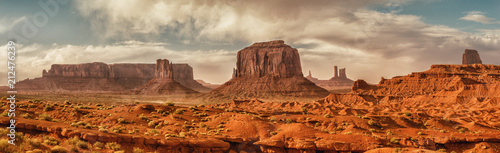 Spoed Fotobehang Centraal-Amerika Landen Landscape of Monument valley. USA.