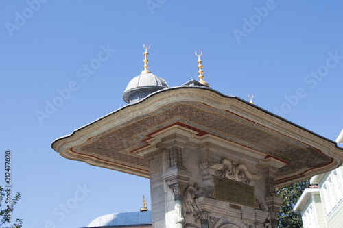 Deurstickers Oude gebouw Outer view of dome in Ottoman architecture