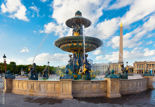 Foto op Canvas Historisch geb. Parisian Fountain de Mers