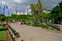 Merida; United Mexican States - May 19 2018 : Picturesque Old City