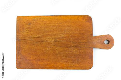 Valokuva  Set of the wooden kitchen utensils on White Background