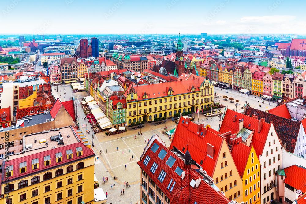 Fototapety, obrazy: Panorama Wrocławia