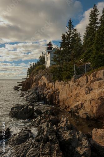 Keuken foto achterwand Grijze traf. Bass Harbor Head Lighthouse, Maine
