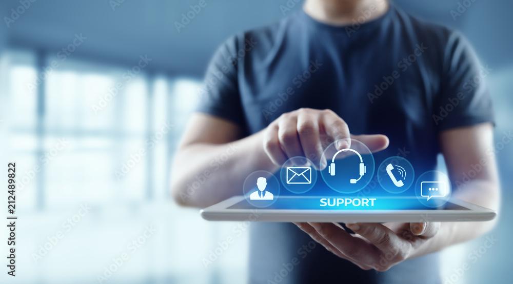 Fototapeta Technical Support Center Customer Service Internet Business Technology Concept