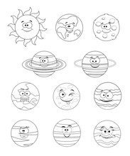 Colorless Set Of Solar System ...
