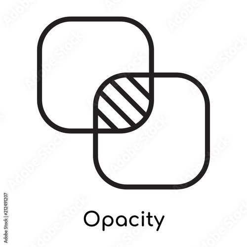 Fotografie, Obraz  Opacity icon vector sign and symbol isolated on white background, Opacity logo c