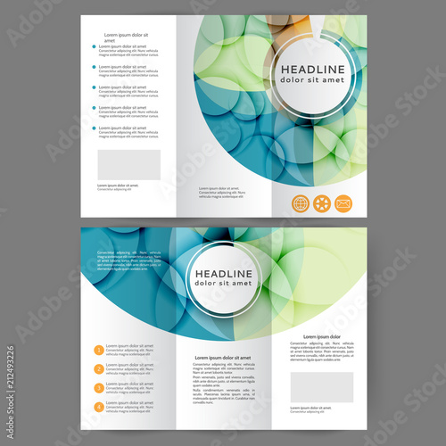 Fotografía  Color tri fold business brochure