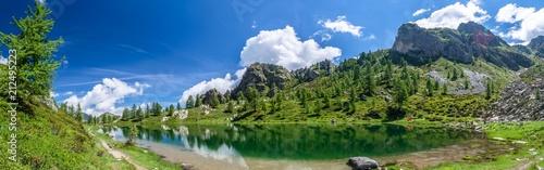 Fotografie, Obraz  Formato Panoramico Lago Nero, Cuneo
