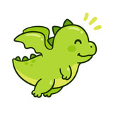 Fototapeta Dino - Cute baby dragon