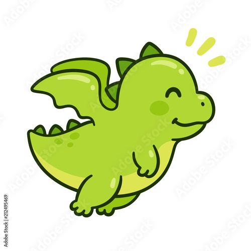 Fototapeta Cute baby dragon