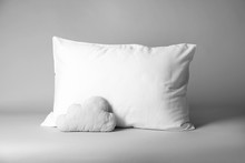 Blank And Decorative Pillows On Light Background