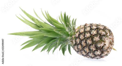 Fototapety, obrazy: pineapple isolated on white background